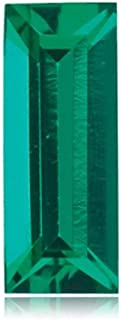 Mysticdrop Lab Created Emerald Straight Baguette Shape AAA Quality from 4x2MM-5x2MM