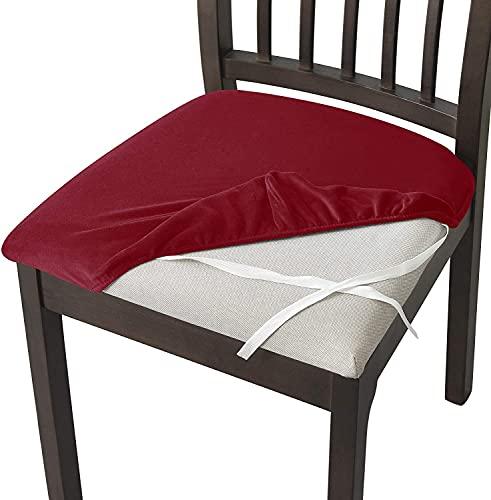 WUWEI Fundas de silla de comedor con respaldo alto, a prueba de polvo, elásticas para sillas, fundas de licra...