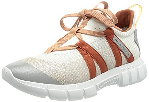 Armani Exchange Harlem New Extra Light Running, Sneaker Mujer, OP.White+Brick+Peach, 37 EU