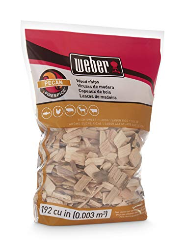 Weber Cubic Meter Stephen Products 17136 Pecan Wood Chips, 192 cu. in. (0.003 cubi, m³)