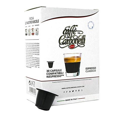 Caffè Carbonelli Miscela Classic - Confezione da 120 Capsule – Compatibili Nespresso - 4 Astucci da 30