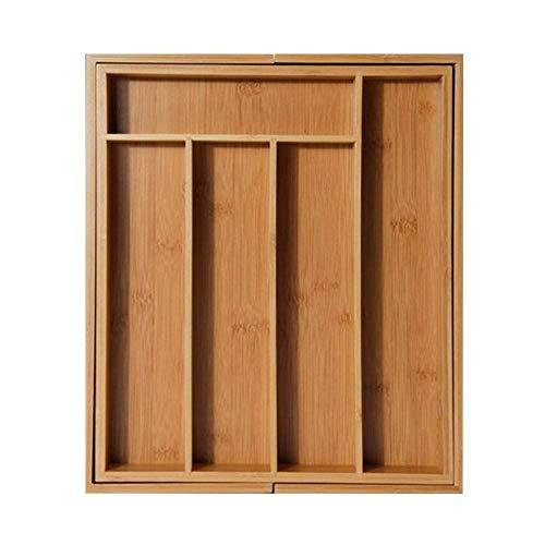 Prosta rozszerzalna szuflada na sztućce bambusowy organizer do szuflady taca na sztućce kuchnia wielofunkcyjna szuflada schowek na sztućce odświeżanie