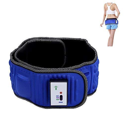 Sonew Cinturón de masaje eléctrico para abdominales, 5 motores de vibración, pérdida de peso, cinturón de masaje para cadera, espalda y zona abdominal