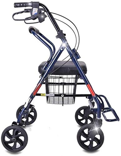 Andadores para discapacidad Andador para Ancianos Carrito de la Compra de Aluminio Movilidad Ayuda for Caminar Altura Ajustable Ruedas de Viaje Ideal for Walker