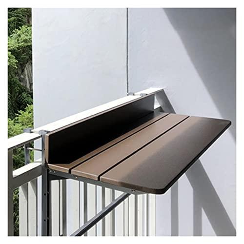 AWSAD Mesa Plegable Multifuncional Levantamiento Y Plegado para Colgar al Aire Libre Pequeño Bar Casero Ahorro de Espacio Fácil de Instalar, Varios Tamaños (Color : Brown, Size : 80X37X9cm)