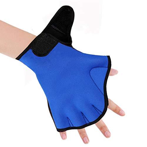 1Paar Schwimmhandshuhe von Efanr - Aqua-Training,  gewebte Handschuhe, Wassertraining, Widerstands Handschuhe für Damen, Herren und Kinder