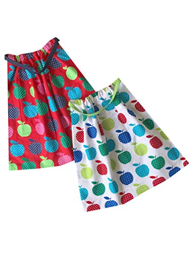 Sackcloth Sally Lot de 2 Serviettes de Table Enfant élastiquées - (Fruit)