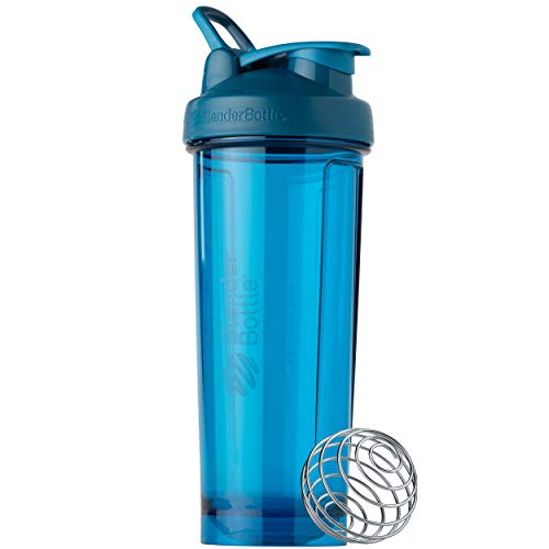 BlenderBottle Shaker Bottle Pro Series Perfect for Protein Shakes and Pre Workout, 32-Ounce, Ocean Blue