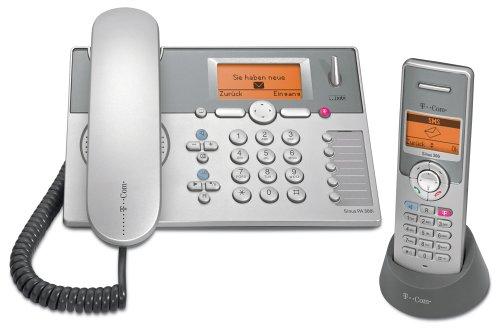 Telekom T-Com Sinus PA300i collection, Schnurgebundenes ISDN Komfort-Tischtelefon und Mobilteil