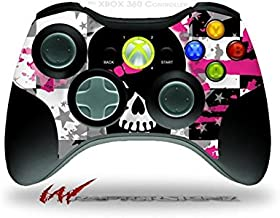 XBOX 360 Wireless Controller Decal Style Skin - Scene Kid Girl Skull (CONTROLLER SOLD SEPARATELY)