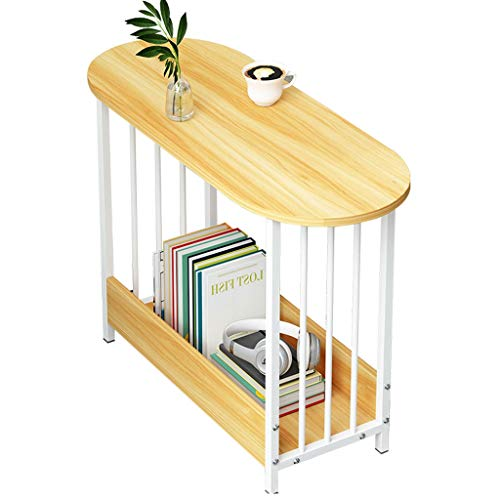 LICHUAN Mesa de café Mesa de café Simple extraíble creativo, pequeño apartamento, sofá, mesa auxiliar para el hogar, sala de estar, mesa de té, mesa auxiliar de salón (color de madera)