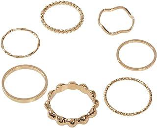 7pcs Boho Minimalist Stack Knuckle Finger Rings Set Tip Midi Rings AU Gift