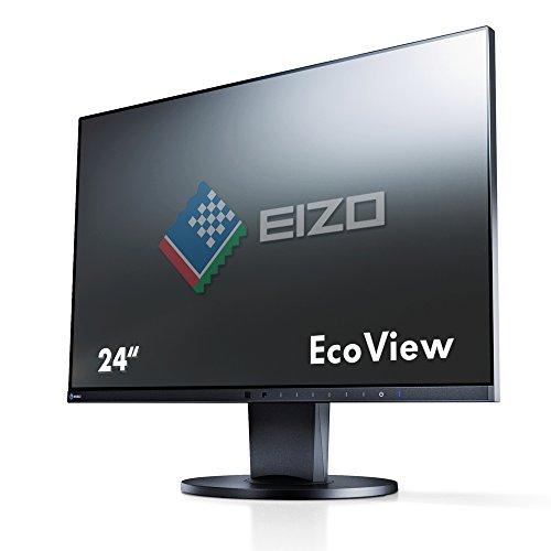 EIZO FlexScan EV2450-BK 60,4 cm (23,8 Zoll) Ultra-Slim Monitor (DVI-D, HDMI, D-Sub, USB 3.1 Hub, DisplayPort, 5 ms Reaktionszeit, Auflösung 1920 x 1080) schwarz