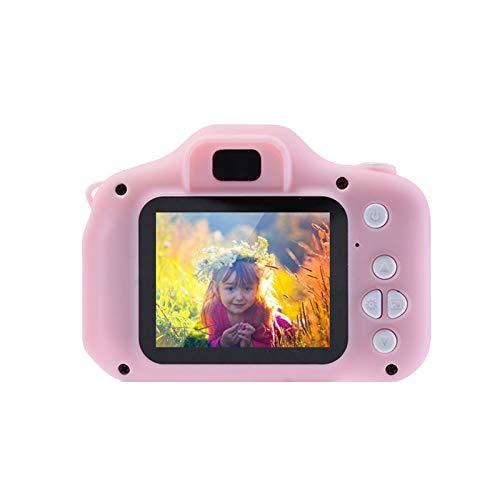kinderkamera,Digitalkamera Kinder Mit 2 inch Farbbildschirm Mini Kamera HD 1080P Eingebaute 4GB SD Karte USB Wiederaufladbare Selfie Kamera für 3 - 10 Jahre Alter Mädchen Geburtstag Kinder Spielzeug