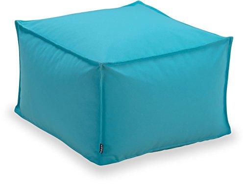 H.O.C.K. Miami Outdoor Blobby Bean Cube, ca. 55x55x35cm wasserabweisend (Türkis)
