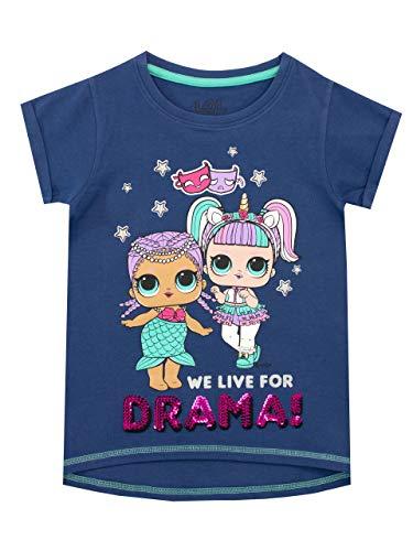 LOL Surprise Camiseta de Manga Corta para niñas Azul 10-11 Años