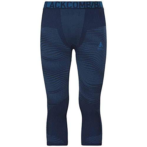 Odlo Performance Pantalon Homme, Poseidon/Blue Jewel/Atomic Blue, FR : S (Taille Fabricant : S)