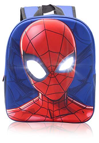 Marvel Spider-Man Rucksack Kinder, Schultasche Kindergarten mit 3D Reflektierenden Augen, Kinderrucksack für Jungen, Kinder Geschenke
