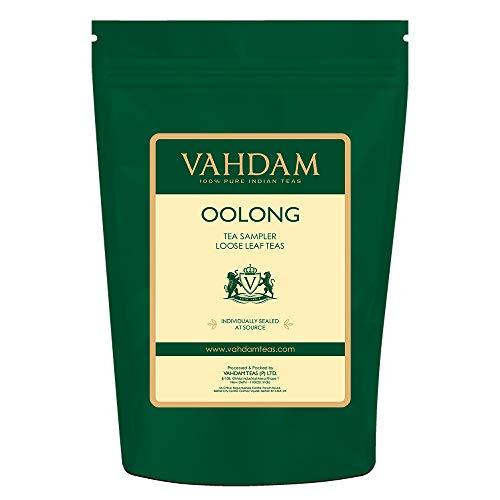 VAHDAM, Muestra De Hojas De Té Oolong - 5 TEAS, 25 porciones | TÉ OOLONG PARA LA PÉRDIDA DE PESO | 5 Delicioso té Oolong | 100% té adelgazante natural, té para perder peso, té desintoxicante