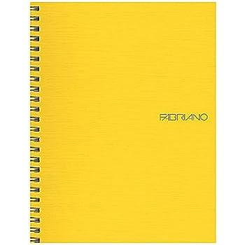 Fabriano EcoQua Notebooks spiral blank lemon 5.8 in. x 8.25 in.