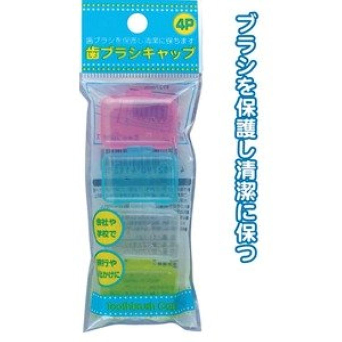 性格ボリューム悔い改める歯ブラシキャップ(4P) 【12個セット】 41-121