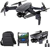 SG907 Pro GPS Drone con cámara 4K HD y cardán de 2 ejes, 5G WiFi FPV Drone para adultos, RC Quadcopter con posicionamiento de flujo óptico, Follow Me, Waypoint Flight, con 3 baterías
