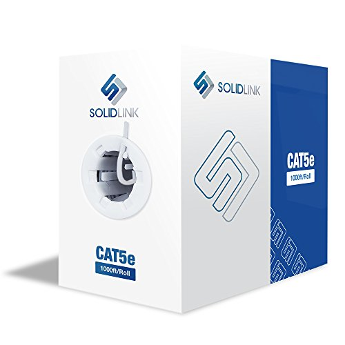 SolidLink CAT5e 1000ft Premium UTP Ethernet Cable 24AWG 1000 Feet LAN Network Wire