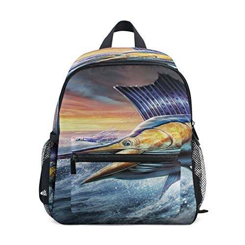 Sea Ocean Cool Sailfish Jumping Rucksack Rucksack Kleine Daypack Taschen für Mädchen Jungen