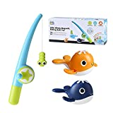 GASSDINER Juguetes flotantes para bañera de bebé, Juguetes de Pesca para niños, Juego Educativo, Juguetes para niños pequeños, Juguetes de Chorro de Agua para niñas y niños