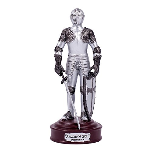 Full Armor of God Knight Ephesians 6 Resin Stone 5 inch Decorative Table Top Figurine