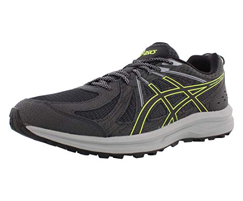 ASICS Frequent Trail Men's Running Shoe, Dark Grey/Black, 10.5 D US
