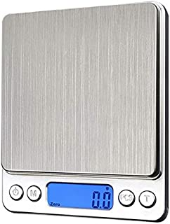 TenYua 1000g/ 0.1g LCD Electronic Kitchen Scales Stainless Steel Digital Precision Jewelry Scales Weighing Device with Bac...