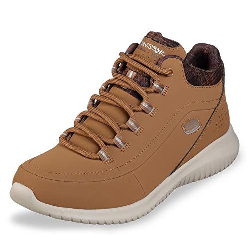 Skechers Damen Ultra Flex Hohe Sneaker, Braun (Brown 12918-Csnt), 38 EU
