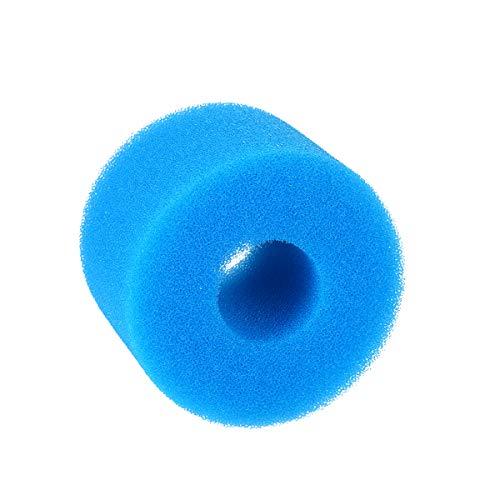 KKmoon Filtro de piscina Herramienta de limpieza reutilizable lavable esponja filtro de espuma de repuesto para filtro tipo S1 azul 7,5 x 10 x 10 cm, 5 unidades por paquete
