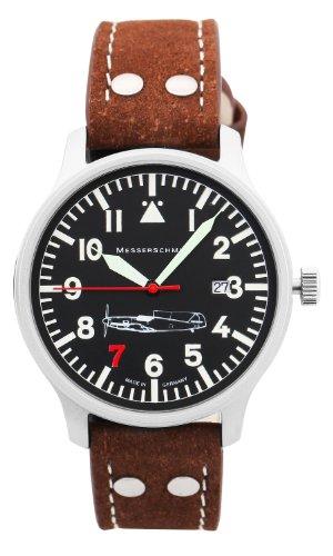 Aristo Herren Messerschmitt Uhr Fliegeruhr 'Rote 7' Ref. 109-42R7
