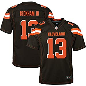 OuterStuff Odell Beckham Jr Cleveland Browns #13 Youth Player Name & Number Game Jersey (Youth Large 14/16)