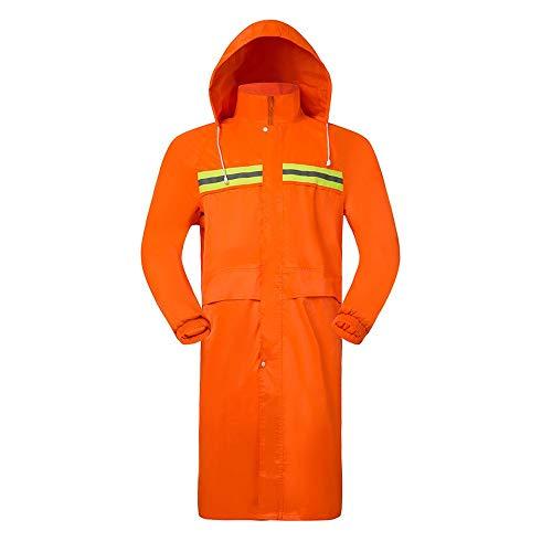 ZHJC Outdoor Radfahren Regenmantel Outdoor-One-Piece Lange Raincoat Einzel Mode Erwachsene Männer und Frauen Windjacke Patrol wasserdichte Regenjacke Leicht zu verstauen und zu transportieren