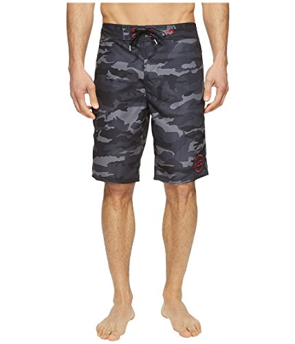 O'Neill Men's Santa Cruz Printed Boardshorts Black Camo Swimsuit Bottoms