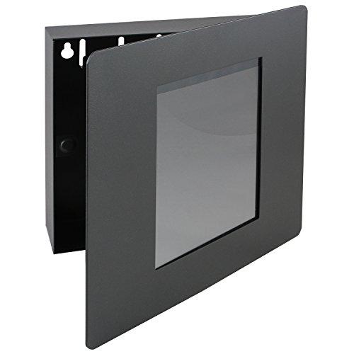 HMF 105002 - Armadietto portachiavi da parete con cornice portafoto, 22 x 20 x 5 cm, colore: Nero