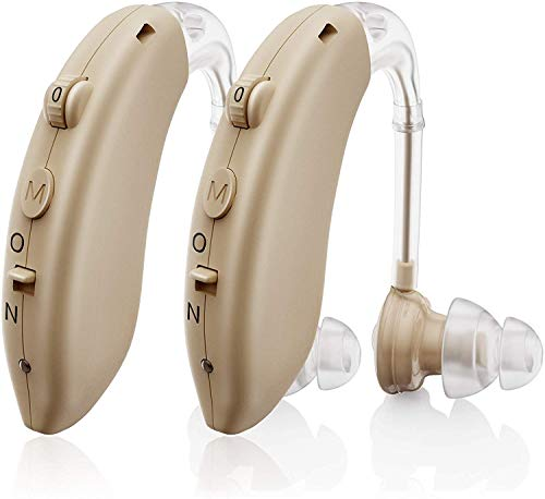 Invisible Hearing Aids for Seniors Rechargeable with Noise Cancelling, Aioze Personal Hearing Amplifier for Adults Severe Hearing Loss, G25 Digital Ear Hearing Assist Devices with Volume Control
