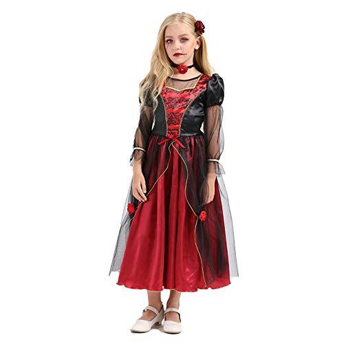 N / A Cosplay Halloween Novedad Regalo Disfraz para nios Horror Vampiro Navidad Princesa Vestido Bruja Disfraz de Mascarada Body Height:135-150cm