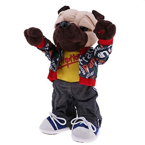 Homyl Elektronisches Tanzend Singend Plüschtiere Kuscheltier Plüsch Tiere Spielzeug - Bulldogge