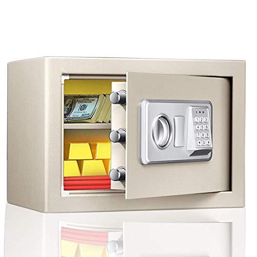 CHUTD Caja Fuerte de Seguridad, Caja Fuerte Digital, Acero electrónico, a Prueba de Fuego e Impermeable con Teclado para Proteger Dinero, Joyas, pasaportes para el hogar, Negocios
