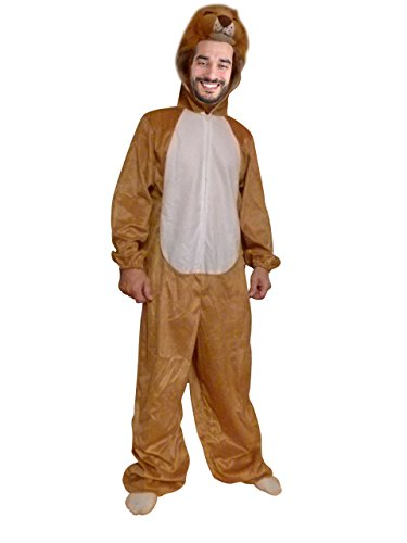 Ikumaal Löwe-n Kostüm-e An73 Größe L, Erwachsene Frau-en u. Männ-er Tiger- Safari-Kostüme Fasching-s Karneval-s Fasnacht-s Geburtstag-s Geschenk-e
