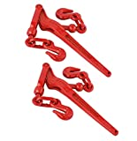 WennoW 2 Pack - Load Binder Pull Lever 1/4' Inch Chain Hook Tie Down Rigging Equipment