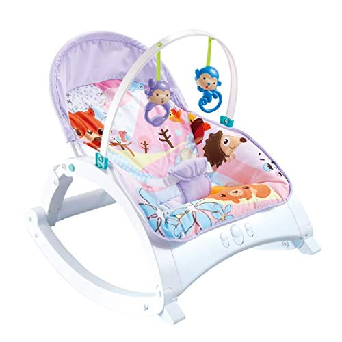 QULONG Cuna de Columpio para bebé portátil eléctrica para niños pequeños para bebés Silla de Columpio Mecedora con Juguete de Regalo de música