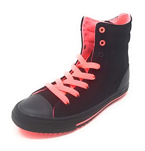 Converse CTAS Hi-Rise Boot X-HI Black/Hot Punch/Almost Black Zipper (3 M US Little Kid)