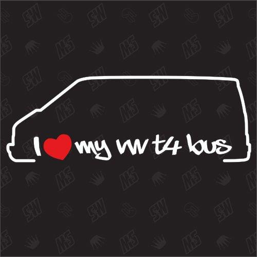speedwerk-motorwear I Love My T4 Bus - Sticker für VW - Bj. 1990-2003