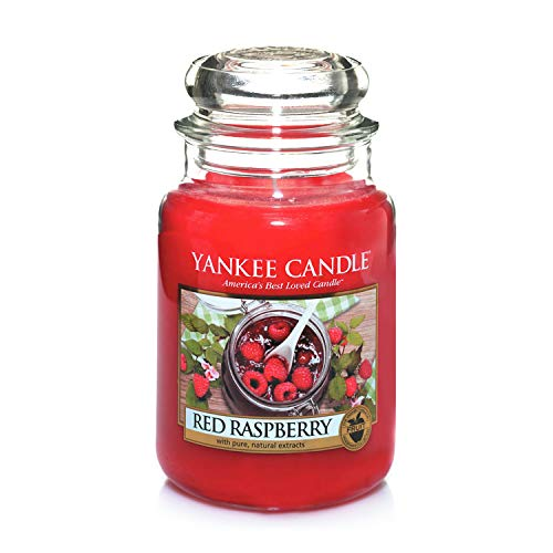 Yankee Candle Candela profumata in giara grande   Lampone rosso   Durata Fino a 150 Ore