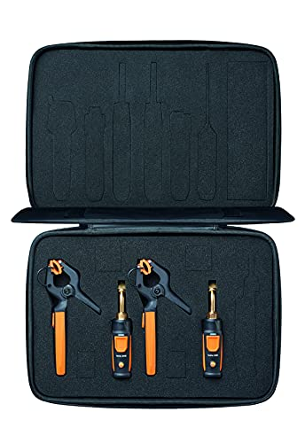 testo Smart Probe Kit I HVAC/R Gauge Set for air Conditioning, Refrigeration and Heating System I Includes testo 115i and 549i – with Bluetooth